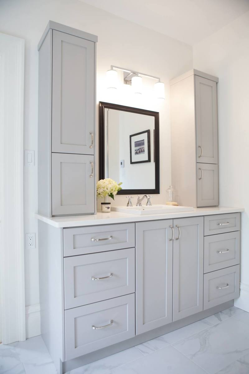 Rise Updated Bathroom Vanity With Grey Cabinets