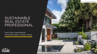 Sustainable Real Estate Professional Course