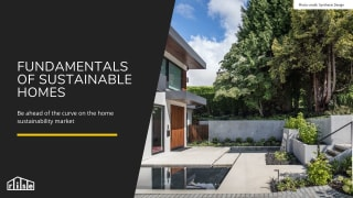 Fundamentals of Sustainable Homes Course